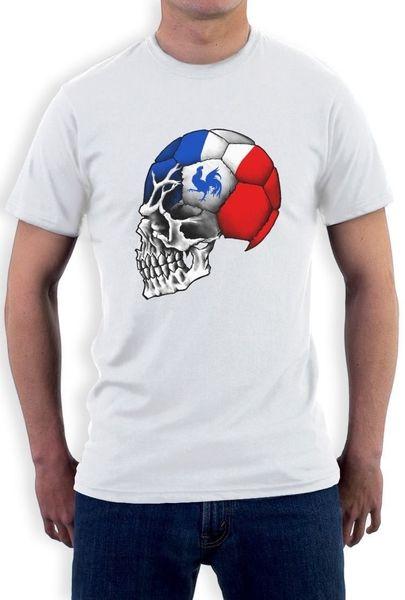 France Flag World Cup Skull Long Sleeve T-Shirt football mondial soccer team