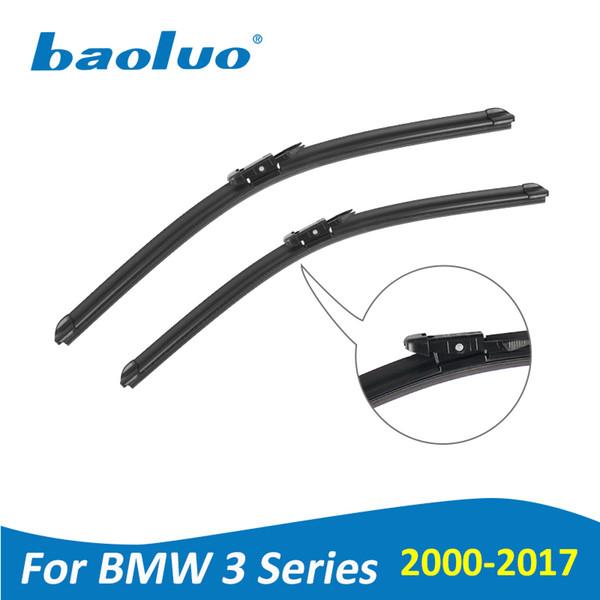 BAOLUO Wiper Blades For BMW 3 Series E46 E90 E91 E92 E93 F30 F31 F34 2000-2017 Soft Natural Rubber Windshield Car Accessories