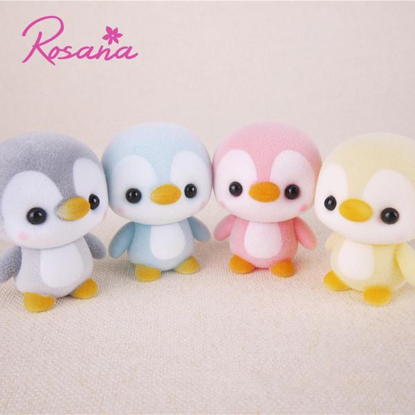Rosana 5.5CM Mini Cute Flocking Penguin Dolls Decoration Little Animal Doll Toy New Year Christmas Gift for Baby Girls Friend