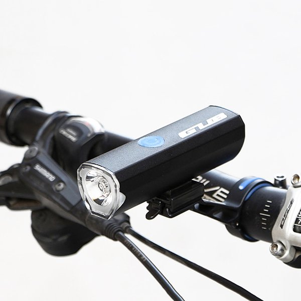 wholesale 018 Waterpoof Front Light LED 5W 300 Lumens Bicycle Lights Lamp For MTB Road Bike USB Rechargeable Flashlight