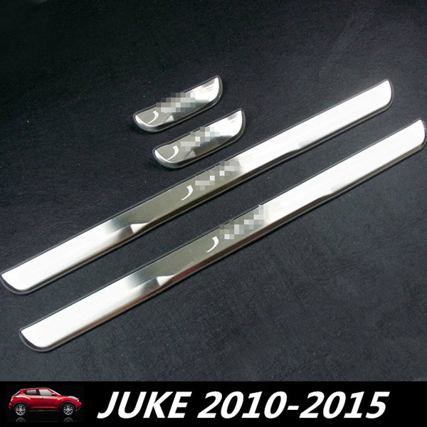 Car Door Sill Plate Cover For JUKE 2010-2015 Stainless Steel Door Sills Scuff Plates fit for NISSAN JUKE 2015