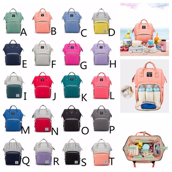 20 Colors Mommy Backpacks Travel Backpack Mothers' Outdoors Bags Adjustable Mom Knapsack Baby Nappies Stuff Sacks Duffel Bags Large Capacity