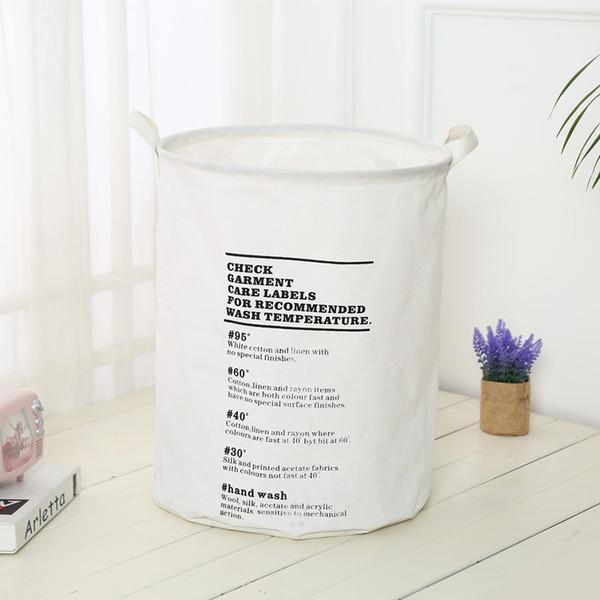 5pcs/lot Folding Portable Laundry Basket Cotton Linen Dirty Clothes Storage Barrel Household Sundries Organizer 40*50cm