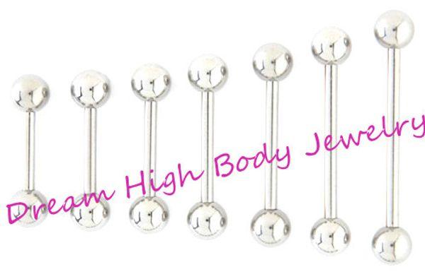 Straight Barbell Tongue Bar Tongue Ring Nipple Piercing Eyebrow Tregus 1 .2mm 1 .6mm 6mm 22mm Length Ear Stud Fancy Body Jewelry