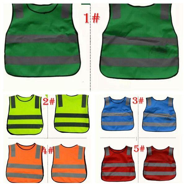 5 color Kids Proof Vests with Reflective High Pockets Cloth Jacket Children Boys Girls Patchwork Vest Safety Equipment