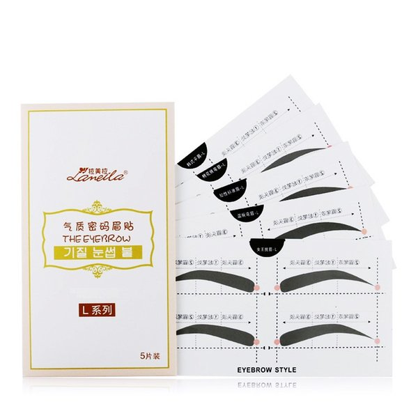 10Pairs L Professional Reusable Eyebrow Stencil Eye Brow DIY Drawing Guide Styling Shaping Grooming Card Easy Makeup Beauty Tool