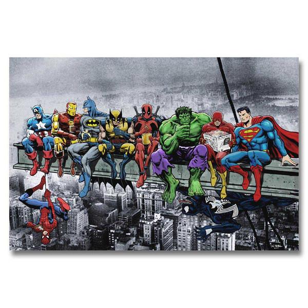 A348 Superheros Marvel DC Comics SKYSCRAPER Top A4 Art Poster Silk Luz Pintura Da Lona Impressão Home Decor Quarto Imagem Da Parede