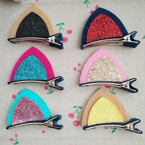 30pcs Pet Hair Accessories Dog Cat Cute Hairpin Hair Clip Headdress cat ear style hair ornaments