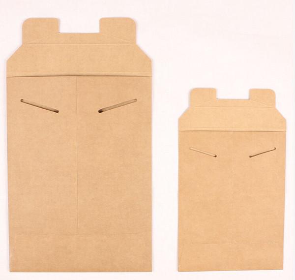 5pcs Kraft Paper Envelope Bag A4 / A5 Paper File Holder Document bag Pouch File Packet Storage Expanding Bags