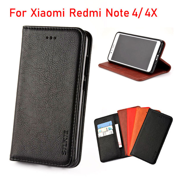 finest selection 9db67 c129e For Xiaomi Redmi Note 4x Case Luxury Leather Flip Cover Vintage Leather  Without Magnets Phone Cases For Xiaomi Redmi Note 4 4x Funda Coque Cell  Phone ...
