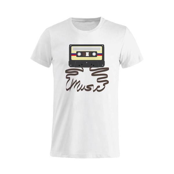 T-shirt Uomo Donna Stereo 4 Music Retro Manches Courtes Plus La Taille T-shirt Couleur T-shirt Imprimé Jurney T-shirt Imprimé Jurney Marque