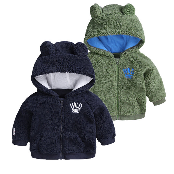 best selling Baby Boy Clothes Autumn Winter Baby Coats Cartoon Bear Fleece Hooded Kids Jackets Infant Newborn Baby Boys Girls Outerwear Vetement 3-18M