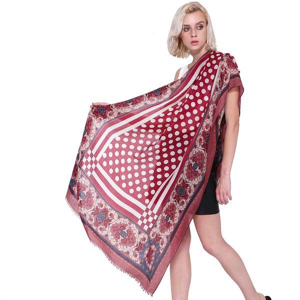 Dot Winter Warm Cotton Linen Scarfs Floral Print Women Long Ladies Scarves Shawls Hijab Large Soft Pashmina Foulard Femme