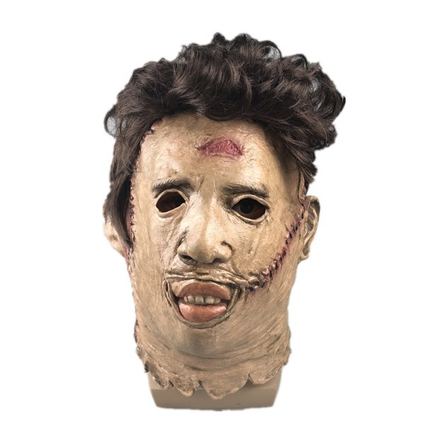Halloween The Texas Chain Saw Massacre Latex Horrible Mask Cosplay Costume Accessories Scary Mask Party Pranks Unisex Mask Free Shipping