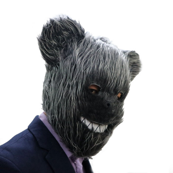 Hanzi_masks Teddy Bear Latex Mask Halloween Cosplay Animal Mask Men Party Costume Prop Head Mask