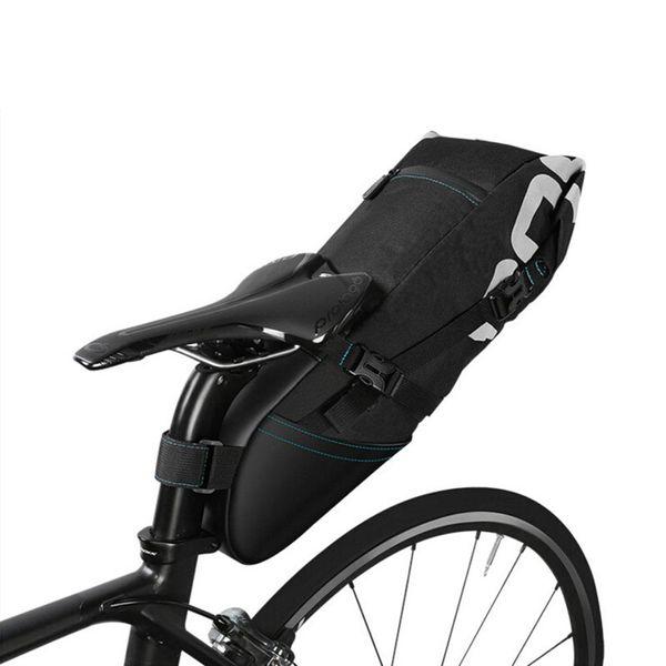 Assento Da Cauda da bicicleta Saco de Encerramento Volume Extensível 8L10L Pacote de Armazenamento do Espigão Do Assento MTB Road Bike À Prova D 'Água Bolsa Pannier