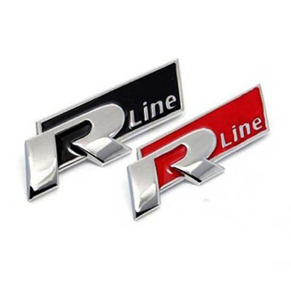 3D Metal Car Auto Rline Stickers Emblem R Line Badges For Audi A4 A6 Q5 Q7 A3 A5 A4L A6L A8L