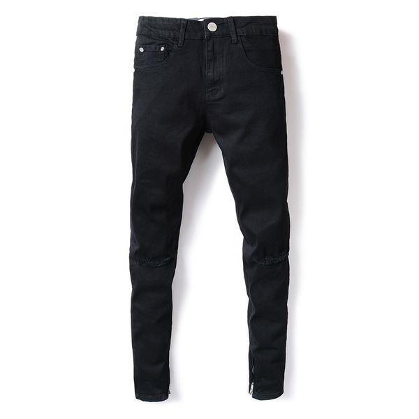 2018 New Brand Jeans Men Famous Black Men Jeans Trousers Male Denim Slim Straight Cut Fit Pants,Black Jeans,2001