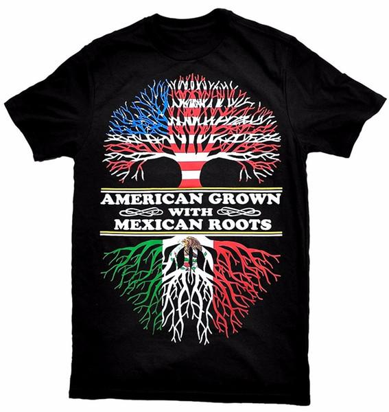 Maglietta stampata 2018 Fashion Brand Crew Neck Short - Manica Office americana cresciuta con magliette messicane T-shirt per uomo