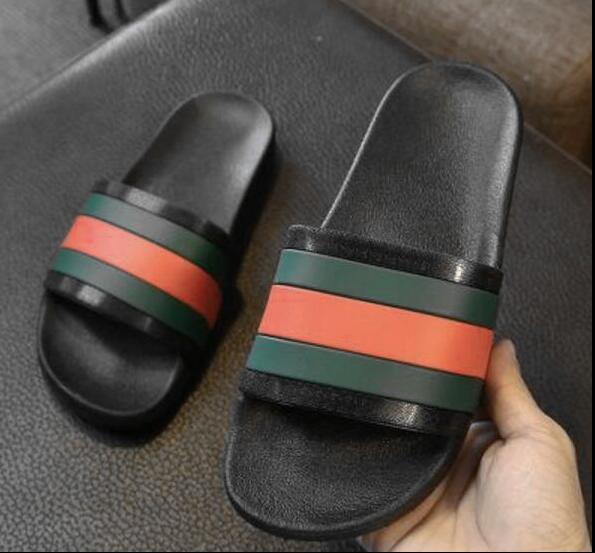 Starke Unterseite rutschfeste bequeme und einfache Mannhausschuhe ein Wort ziehen drei Stabmoderne Schuhe Männer Freizeit gestreifte Schuhe 40-45 n80