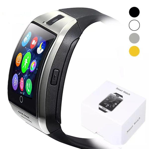 Für iphone 6 7 8 x android-handys bluetooth smart watch q18 smart watch bluetooth smart watchs unterstützung sim-karte kamera antwort anruf