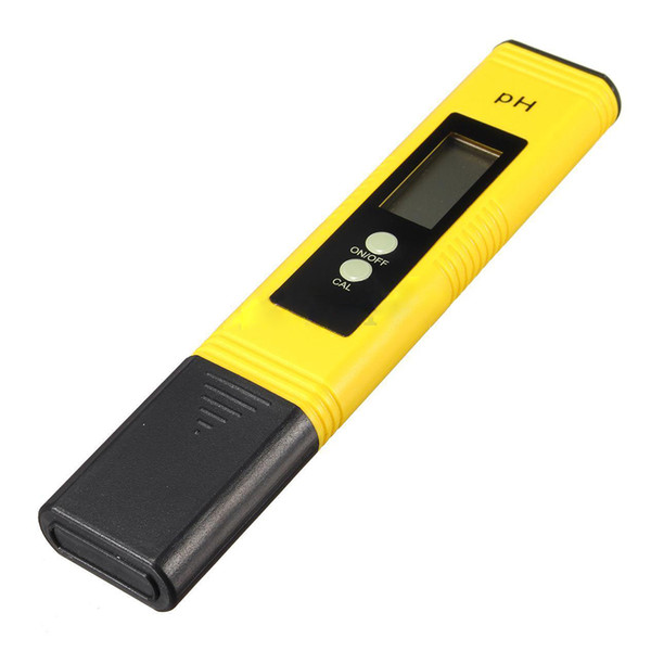 AYHF-New LCD Pocket Digital Ph Meter Tester Hydroponics Pen Aquarium Pool Water Test yellow