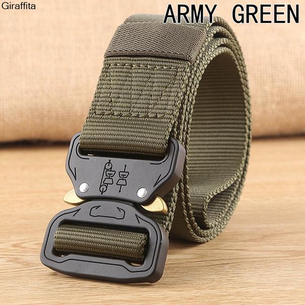 2017 Hot Tactical Gear Heavy Duty Belt Cobra Nylon Metal Buckle Patrol Waist Belt Tactical Hunting Accessories