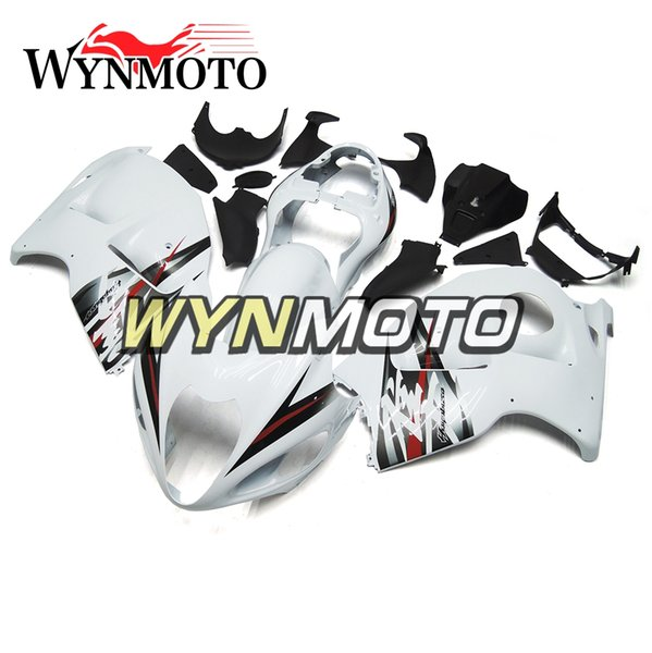 Complete Fairings For Suzuki GSXR1300 Hayabusa 1997-2007 02-07 Injection ABS Plastic Body Kit Fairing Cowling White Silver