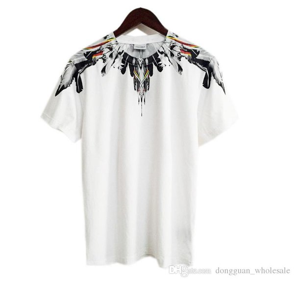 2019 New Designer Men Women Casual Marcelo Burlon T Shirts Italy County of Milan Feather Wings MB T-shirt RODEO MAGAZINE Tee Brand T Shirt