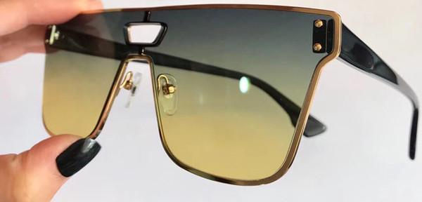 ec972a7bd20a3 Nouvelle marque de mode lunettes de soleil cadre carré noir avec des hommes  en métal or