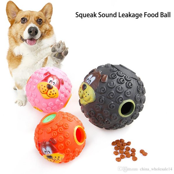 Pet dog Sound Toy Ball Squeaky Giggle QuackTraining Dogs Food Dispenser Durable Dog Chew Toys Puppy Training Supplies 2018
