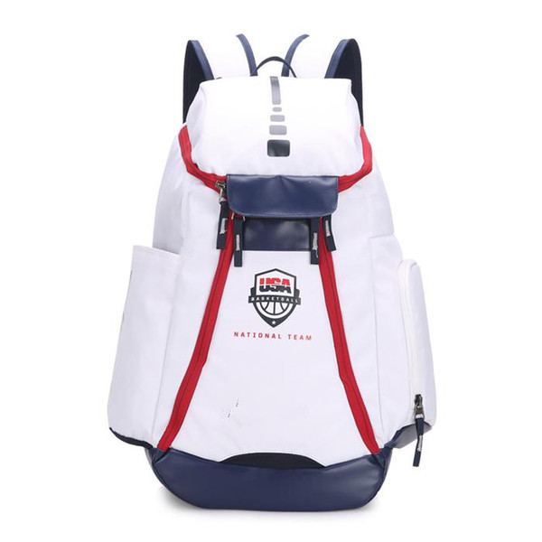 Basketball Backpacks New Olympic USA Team Packs Backpack Man's Bags Large Capacity Waterproof Training Travel Bags Shoes Bags Free Ship