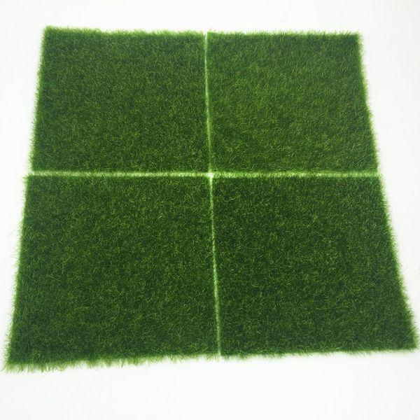 Earth Day 15pcs Grass Mat Green Artificial Lawns 15x15cm Small Turf Carpets Fake Sod Home Garden Moss Floor Wedding Decoration