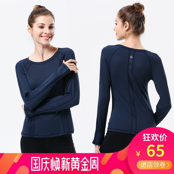 best selling Yoga Woman Long Sleeve Autumn And Winter Motion Major Bodybuilding Serve Close Self-cultivation Ventilation Tops gym clothes