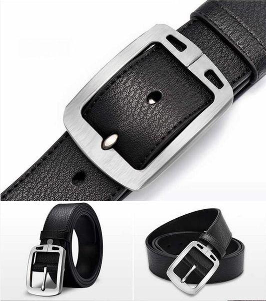2018 New hot PU leather mens belt black pin buckle belts for men designer famous belt male strap A4