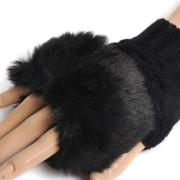 HOT SALE!Lady Girl Shaggy Faux Fur Knit Fluffy Hands/LEG Warmers Ankle Boot Covers Gloves