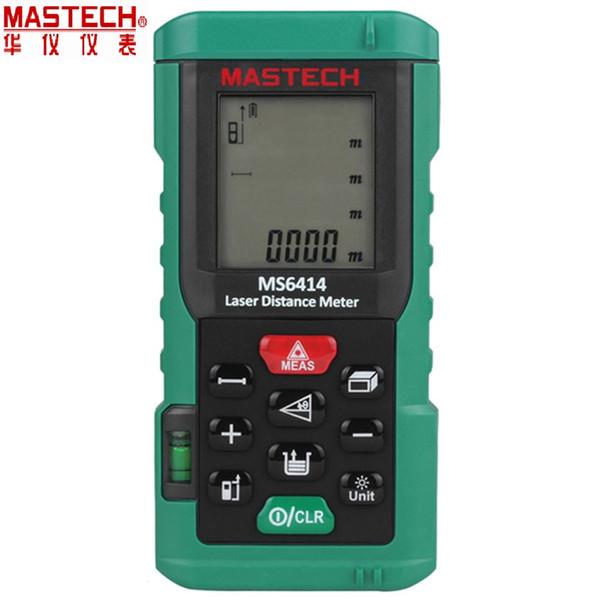 MASTECH MS6414 Digital Laser Rangefinder Precisão Medidor de Distância A Laser 40 M +/- 2mm Área Volume Tape Ferramenta de Medição de Distância