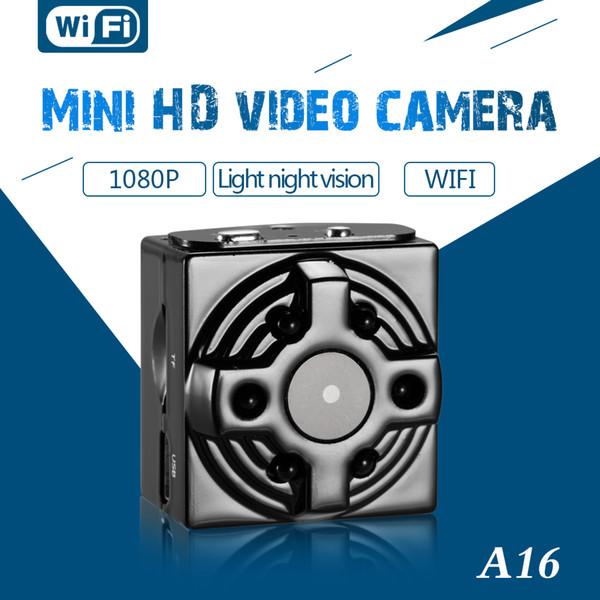 Neue Original HD 4 Karat 1080 P A16 Wifi Netzwerk Kamera Mini Videokamera Wifi Licht Nachtsicht Unterstützung 128G TF Karte Mini DVR