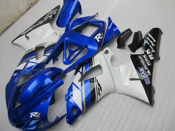 7gifts Fairing kit forYAMAHA YZF R1 1998 1999 white blue black fairings set YZF R1 98 99 SA13