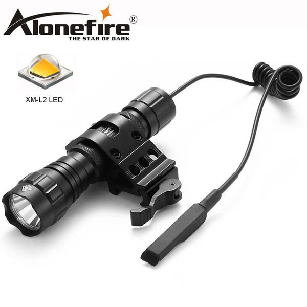 AloneFire 501Bs CREE XM-L L2 Light LED Tactical Flashlight Torch Pressure Switch Mount Hunting Light Lamp
