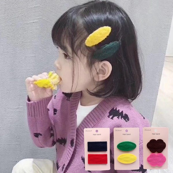 dropship gift 2PCS/Lot Little Girls Barrettes lovely Hair Clip Children Safety Hairpin Headband For Kids Hair Accessories