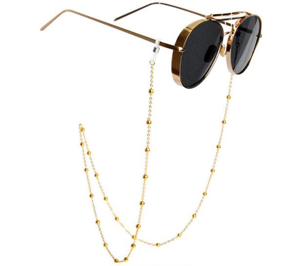 새로운 유행 금속 금 구슬 안경 체인 안경 안경 선글라스 코드 홀더