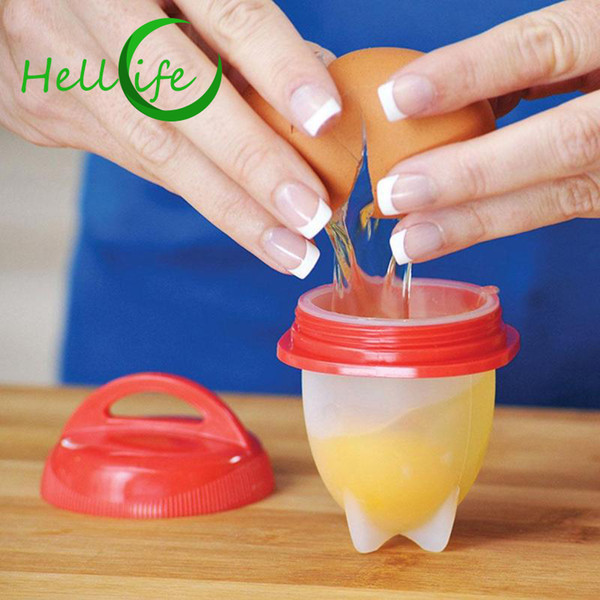 HELLOLIFE Silicone Egg Cooker Cups Steamer Egg Poacher Hard Boiled Egg Cooking Form Without Shell Omelette Molds Kitchen Tools