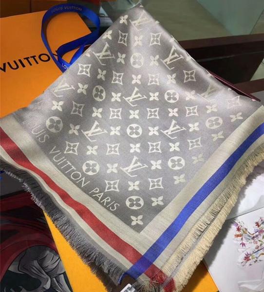 Design de moda mulher marca Scarf High Qualit lenços de seda de lã Clássico Senhoras envoltório lenços tamanho 140x140 cm para As Mulheres transporte rápido A669 +