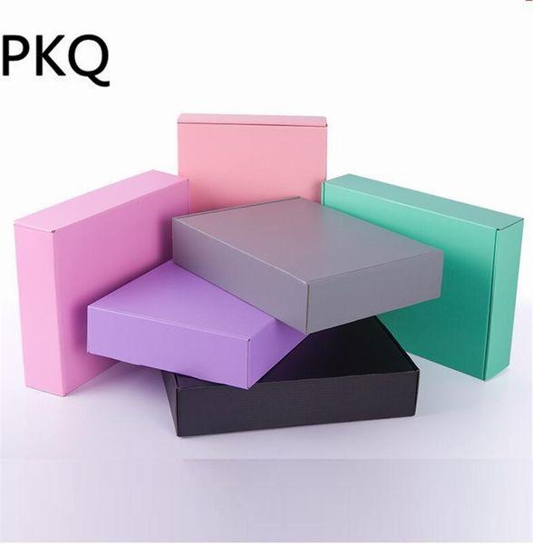 30 stücke 15 * 15 * 5 cm Bunte papier verpackung box rosa karton seifenpapier karton box große kraft geschenk handwerk