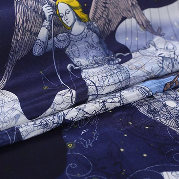 best selling 110cm Width 16mm The Galaxy Print 100% Mulberry Silk Crepe de Chine Fabric for Woman Summer Dresses Blouse Sewing