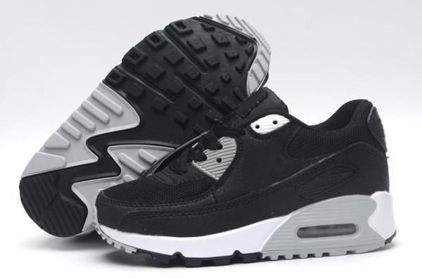 2019 Nike air max 90 İlkbahar Sonbahar Çocuk Ayakkabıları 90 Kırmızı Siyah Nefes Rahat Çocuklar Spor ayakkabılar 90 Erkekler Kızlar Bebek Ayakkabı Bebek 28-35