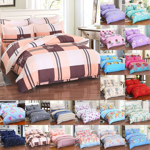 Flower Bedding Sets 4pcs/set Luxury 3D Printed Duvet Cover Pillowcases Home Bedding Supplies Christmas Gift 29 Style Free DHL WX9-1033