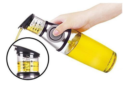Practical Metering bottle pressing type quantitative scale health pot seal oil measure bottle kitchen tools