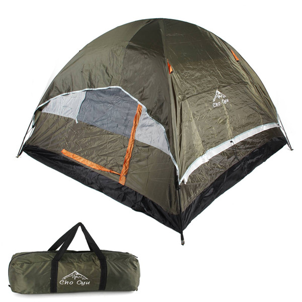 3-4 person Double layer Waterproof Camping Tent Outdoor Travel Fishing Light Cold Anti-rain hiking Windproof tent Oxford cloth US shipping